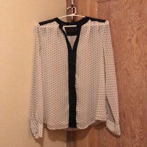 Black and white Polkadots blouse